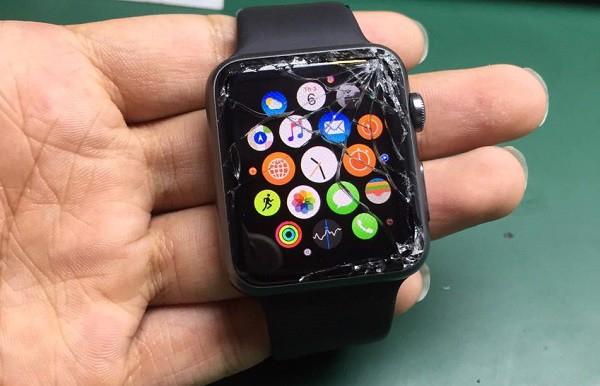 Image result for apple watch hư mặt kính